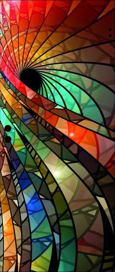 Ganzglastür ESG Weißglas 8mm, Motiv Spirale 1
