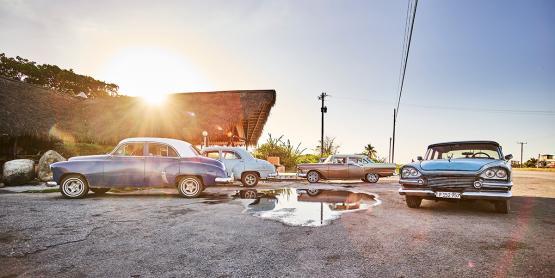 Wandbild aus Glas, Motiv Kuba / REFLEXION
